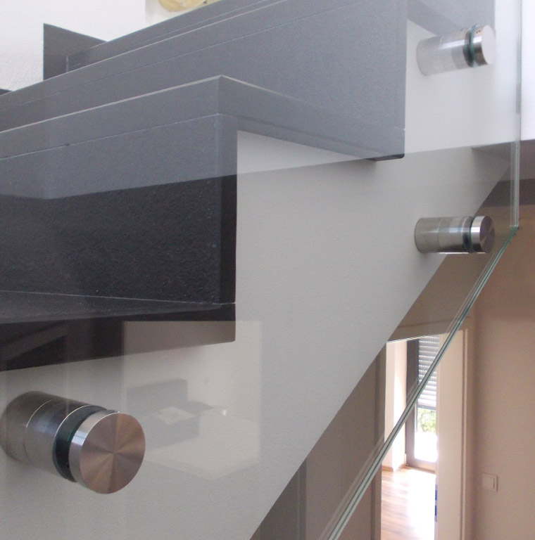 Glas Befestigung treppenverglasung glas kuenzel