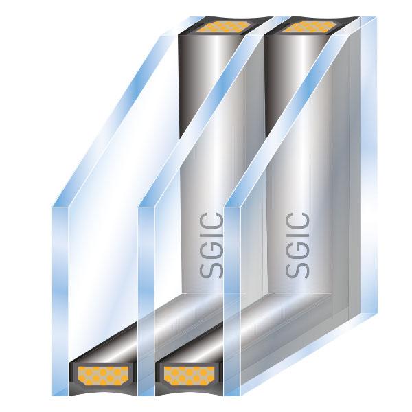 ISO Glas 3-fach