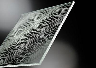 Lasergravur-Linienstruktur