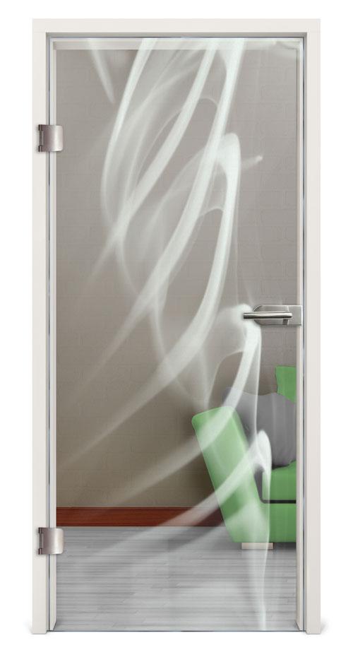 Glastür gelasert - Motiv Smoke 2