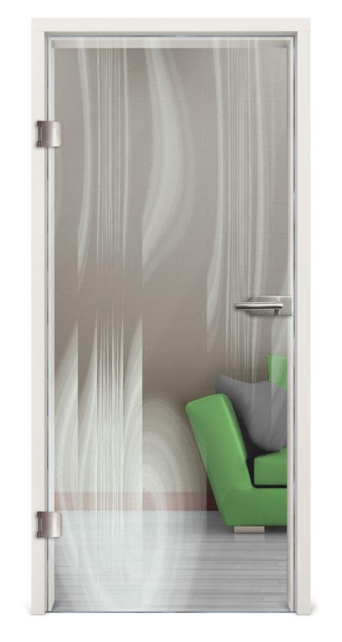 Glastür Lasergravur - Motiv Achat