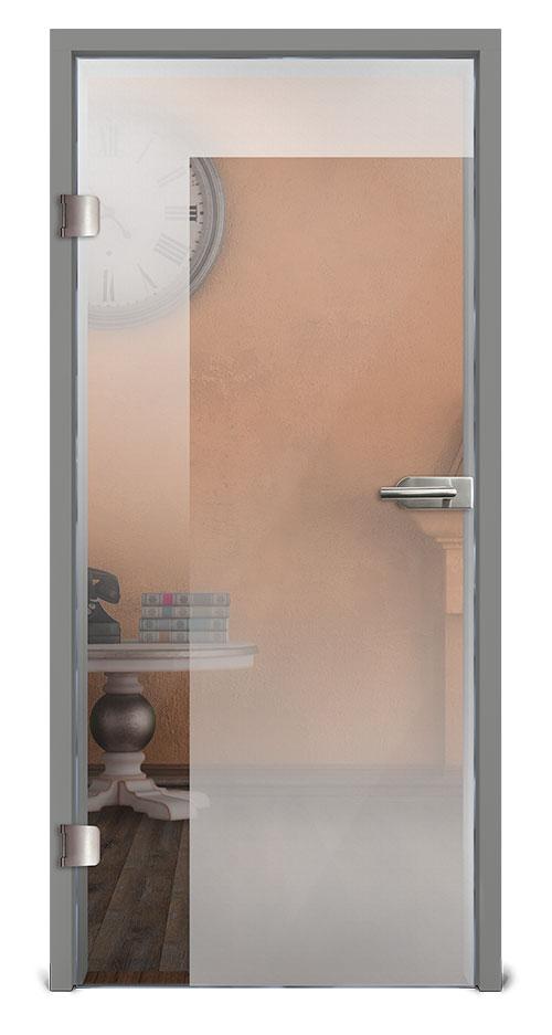 Glastür mit progressiver Sandstrahlung - Motiv Rooma