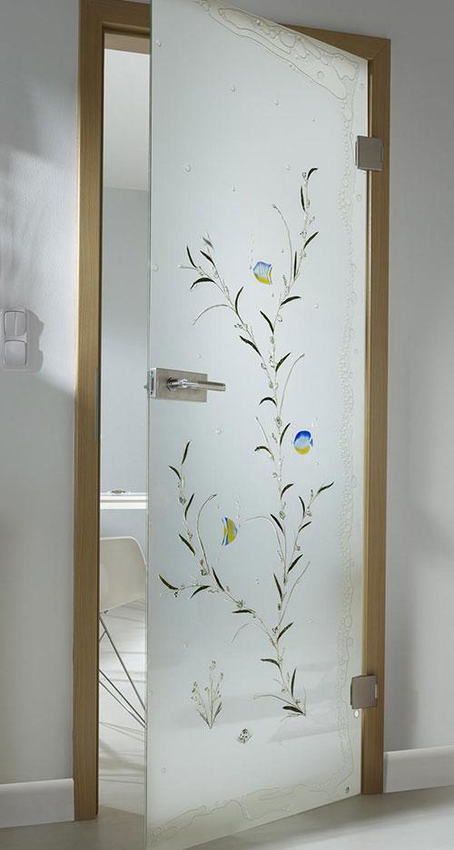 Ganzglastür Flora - Motiv Wasserwelten