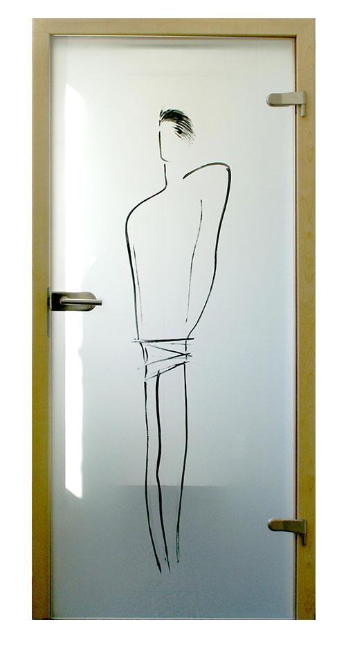 Ganzglastür Glasmalerei - Motiv Senor